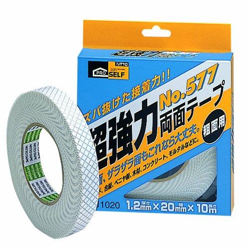 ニトムズ 超強力両面テープ 粗面用(箱) No.577 20mm×10m J1020
