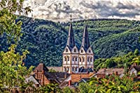 Jigsaw Puzzle for Adults Boppard St. Severus Church Germany Puzzle 1000 Piece Wooden Travel Souvenir Gift