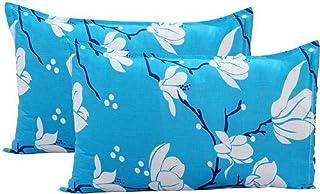 KIHOME Beautiful Microfiber Printed Pillow Cover- Blue
