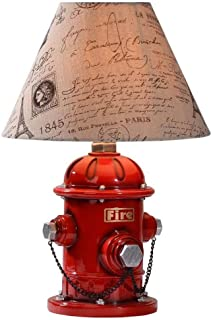 WJMLS Firefighting Table Lamp Modern Simple Fire Hydrant Desk Lamp LED Eye Care Desk Lamps Bedroom/Bedside/Studyroom/Living Room Decorative Table Lights Illumination