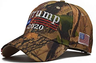 Donald Trump Election Hat American Flag Embroidered Washed Cotton Baseball Cap Adjustable Velcro Unisex Hat Camouflage