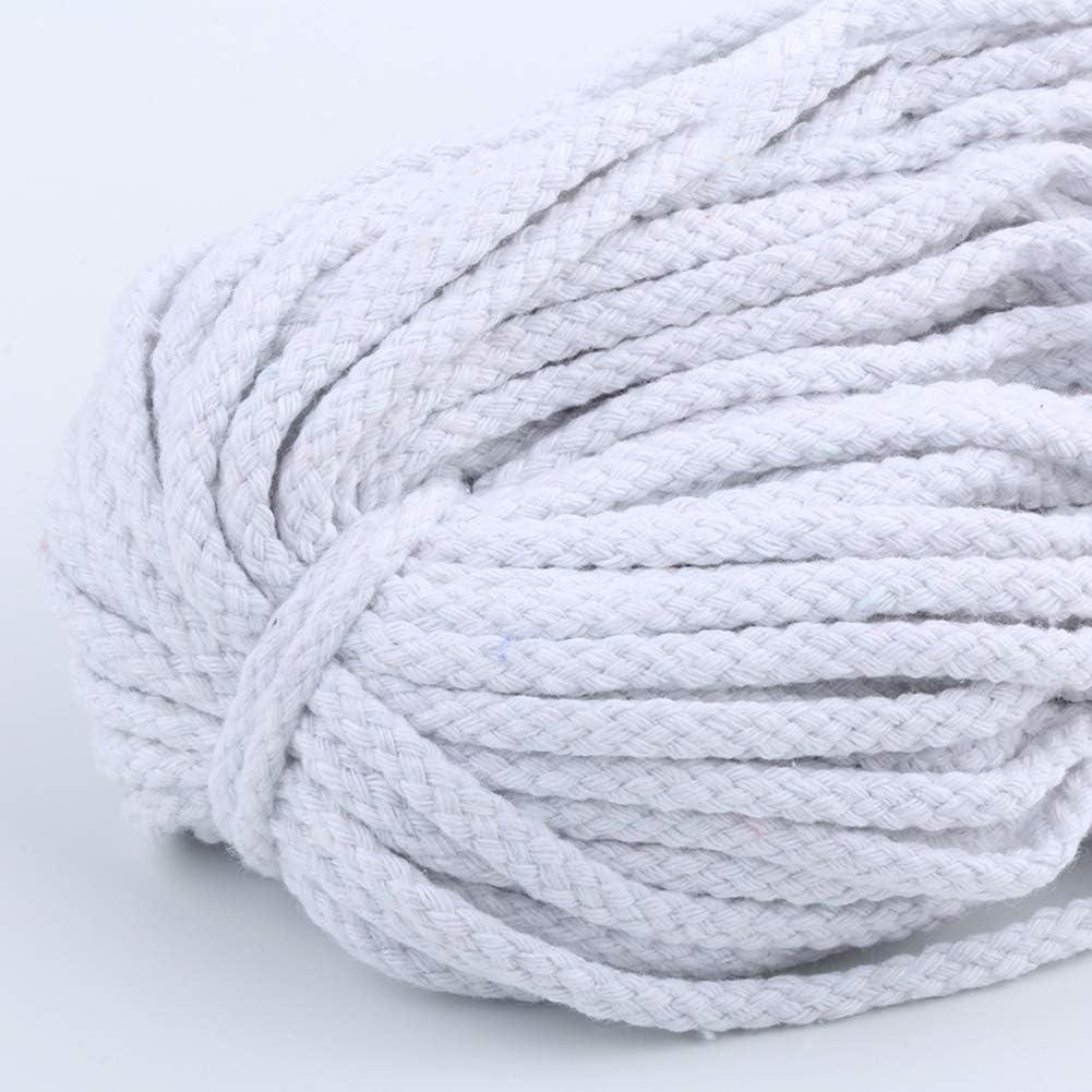bricolaje colgar en la pared 5mm 80-90m Cuerda colgante artesanal de macram/é Cuerda de macram/é hecha a mano Cadena trenzada duradera de decoraci/ón colorida Artesano cuerda para colgar plantas