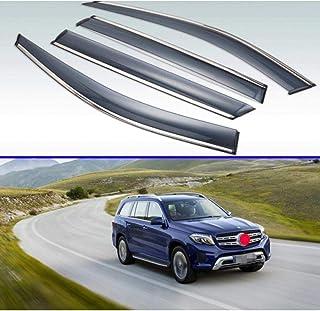 Piaobaige 4Pcs Kunststoff Außenvisier Lüftungsblenden Fenster Sonne Regenschutz Deflektor Für Mercedes Benz Gls Clase Gls X166 2016 2017 2018 2019