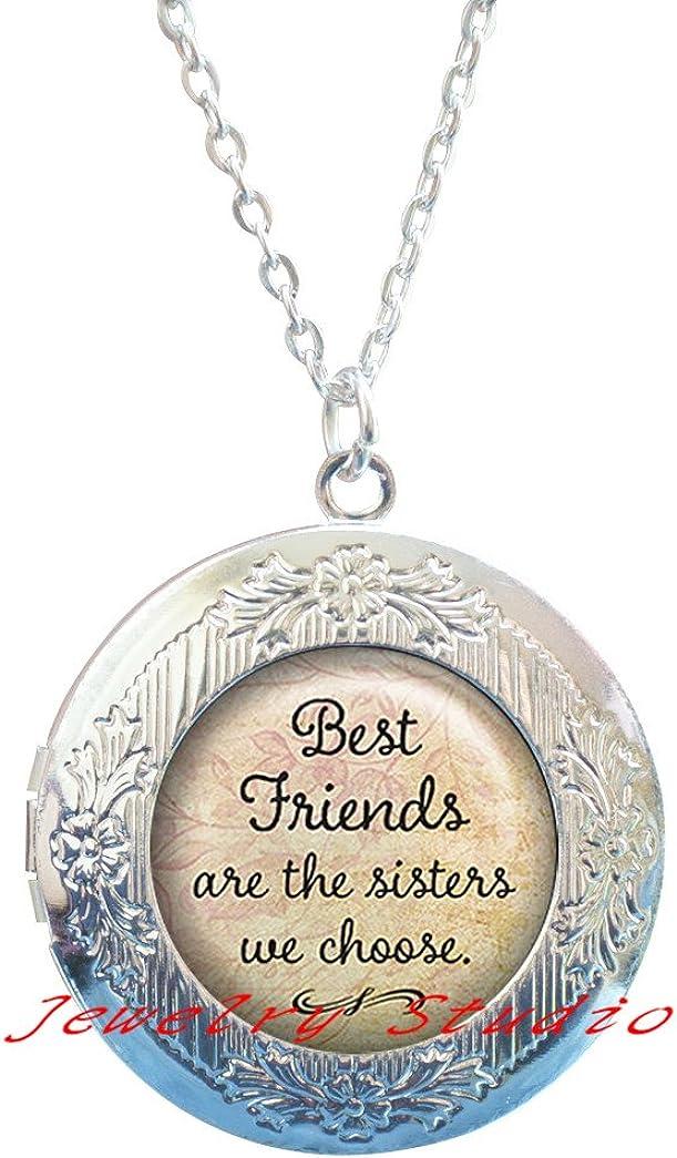 Best Friends are The Sisters we Choose Locket Necklace, Best Friends Locket Necklace, Best Friends Locket Pendant, Friendship Jewelry, Friendship Locket Pendant-HZ00366