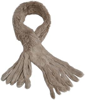 KANINCHEN Damenschal echt Pelz Fell Winter mit Fransen Schal