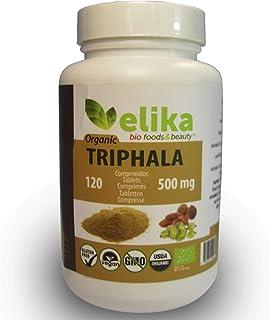BIO Triphala Elikafoods® ORGÁNICA. 120 comprimidos de 500 mg. Limpia y desintoxica el colon. Contra el estreñimiento. Natu...