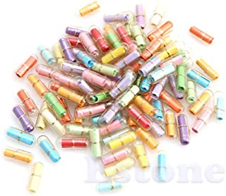 Kangnice 100pcs Message in a Bottle Message Capsule Letter Cute Love Pill Full Clear Colour