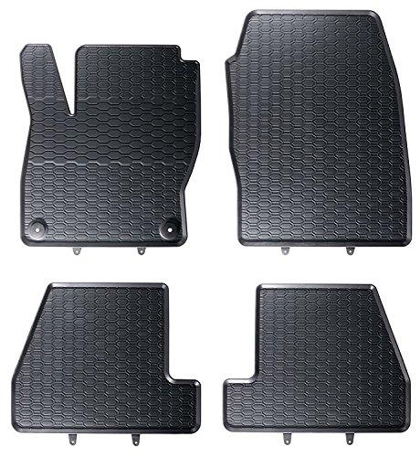 DAPA 1103847-2 Auto-Gummimatten Fußmatten Im Wabendesign, Anti-Rutsch-Oberfläche, Geruch-vermindert und passgenau inklusiv Befestigungen