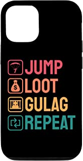 iPhone 12/12 Pro Jump Loot Gulag Repeat Gamer Gift Funny Video Game Gulag Case
