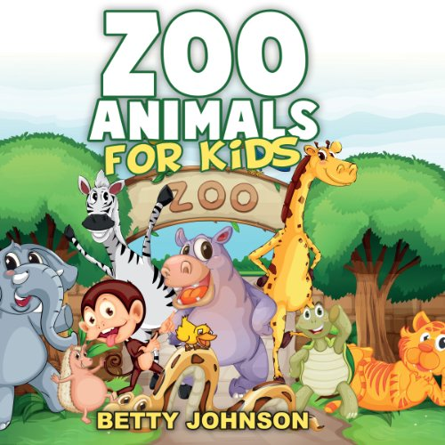 Couverture de Zoo Animals for Kids: Amazing Pictures and Fun Fact Children Book