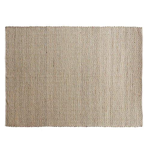 Loberon Teppich Jonesboro, Seegras/Baumwolle, H/B ca. 240/170 cm, leinen