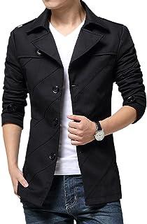 (リスキス) riskiss メンズ ビジネス カジュアル コート オフィス 秋冬 ミドル丈 オフィス 上着 チェスター ジャケット ジャンパー ブラウン ブラック M L XL