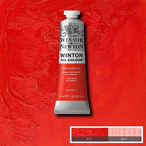 Winsor & Newton Winton Oil Paint Tube Artist Art 37ml & 200ml ALL COLOURS (Cadmium Red Hue, 37ml)