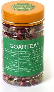 GOARTEA 65g_2pcs (Total 4.58 oz) Bottled Organic Red Rosebud Rose Buds Flower Floral Dry Herbal Health Chinese Tea Té