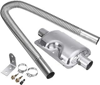 Pceewtyt Park - Tubo de escape de acero inoxidable para motor de aceite, calefacción, 60 cm, tubo de escape de gasóleo y 24 mm de silenciador para accesorios de calefacción de coche