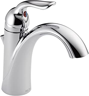 Delta Faucet Lahara Single-Handle Bathroom Faucet with Diamond Seal Technology and Metal Drain Assembly, Chrome 538-MPU-DST
