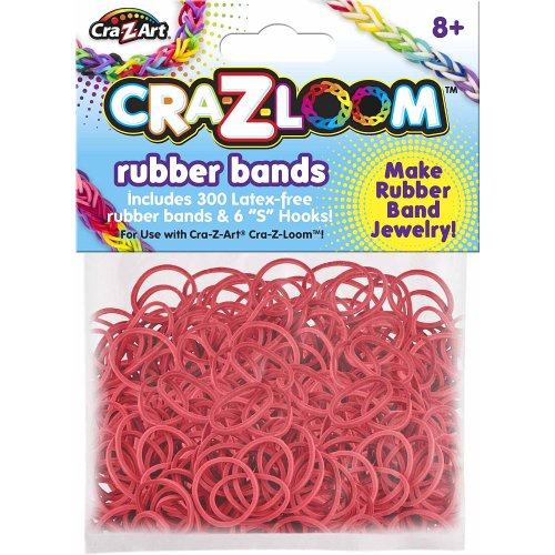 Bright red Kanai Kids Cra-Z-Loom Rubber Band Basic Colors Refill