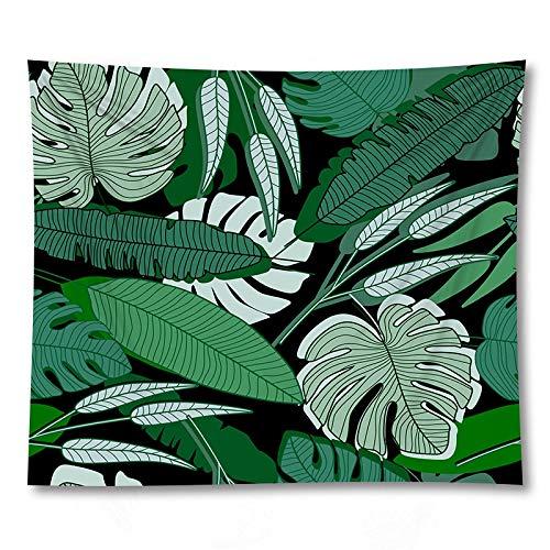 PPOU 3D Planta Verde impresión Yoga Mat Pared Arte Tapiz decoración del hogar sofá Manta Tapiz de Tela de Fondo A7 150x200cm
