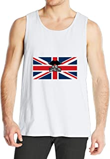 SAXON Custom Tank Top For Men Sex Pistols American Flag White