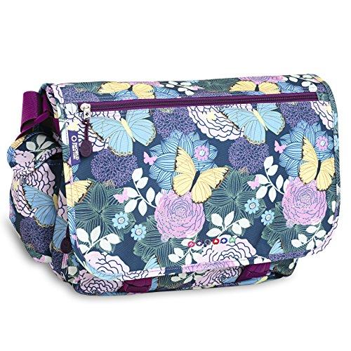 J World New York Terry Messenger Bag, Secret Garden