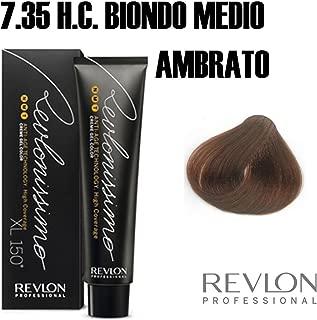 Revlon Revlonissimo High Coverage Matices, Tinte para el Cabello 735 Rubio Ámbar - 60 ml