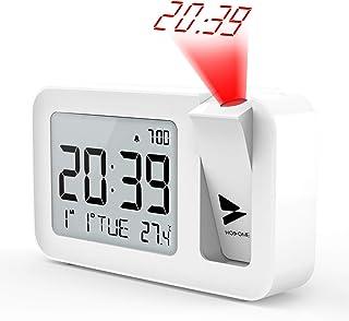 Hosome Reloj Despertador Digital Despertador Proyector con
