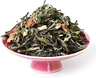 GOARTEA 100g / 3.5oz Nonpareil Supreme Fujian Jasmine Loose Leaf Yin Hao Silver Tip Chinese Green Tea - Snow White
