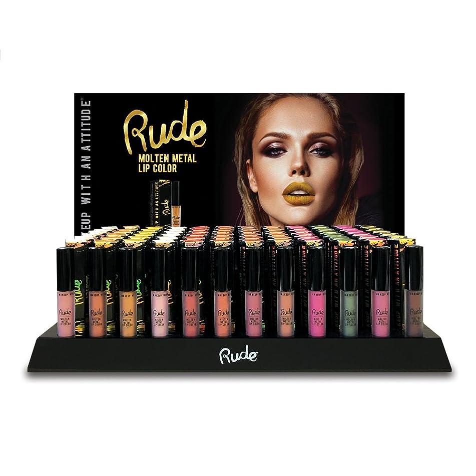 マラウイ豊富添加剤RUDE Molten Metal Lip Color Display Set, 144 Pieces + 12 Testers (並行輸入品)