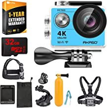 AKASO EK7000 Ultra HD Waterproof Sports Action Camera with Sports Camera Starter Kit (EK7000 AK-DVC-BL) + 32GB MicroSD High-Speed Memory Card & 1 Year Extended Warranty