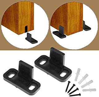 ZEKOO Adjustable Sliding Barn Door Hardware Door Bottom Floor Guide Plastic Limit The Door with Screws (1set)