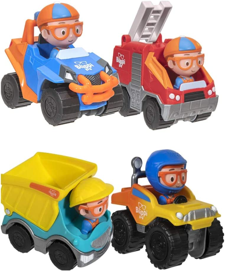 Blippi Mini Vehicles 4-Pack Gift Max 90% Max 53% OFF OFF Simple Joy by Toys Set