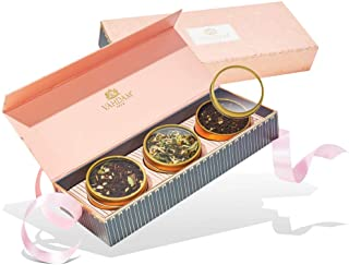 VAHDAM, Assorted Tea Gift Set - BLUSH, 3 Teas in a Tea Sampler Gift Box | 100% Natural Ingredients - Holiday Gifts for Eve...