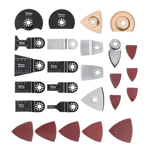 Baban Outil Multifonctions Accessoires 66 pcs Mix Lames Lames Multifonction de Tool Saw Blades Facile à Utiliser- Caractéristiques pour Scier, Couper, Racler, Façonner, Polir et Enlever le Coulis