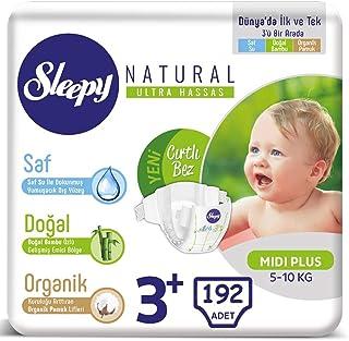 Sleepy Natural Bebek Bezi 3+ Numara 5-10 Kg 32 * 6 192 Adet