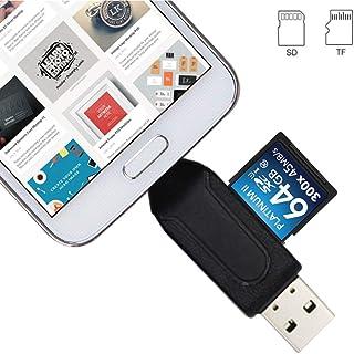 comprar comparacion USB C 2.0 a SD/microSD de Memoria Lector de Tarjetas, 2 en 1 portátil Adaptador de tarjetay USB C Conector Conector OTG a ...