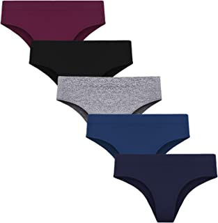 Women's Underwear Brief Hipster Panties- Soft Seamless Bikini Durable Fabric 5 Pack