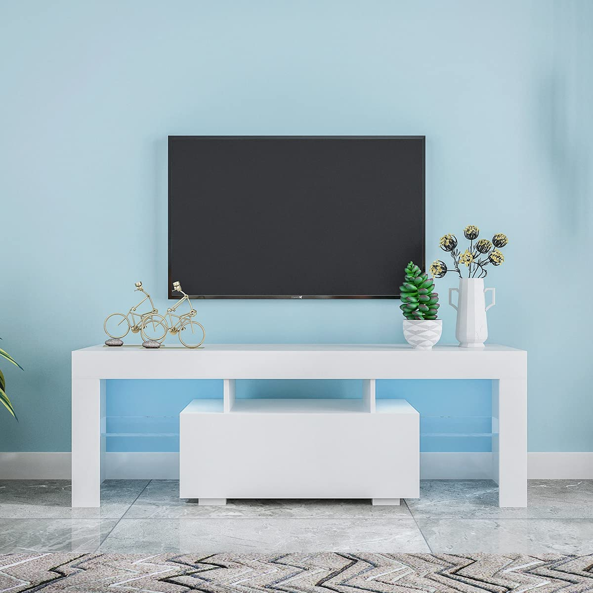 Entertainment TV Super beauty product restock quality top Stand Large Li Base with LED Ultra-Cheap Deals