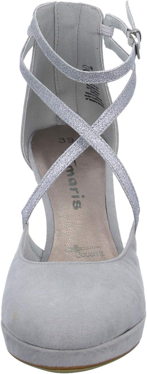 Tamaris Dames 1-1-24406-24 Loafer Grijs Grey Glam 244