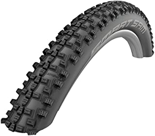 Schwalbe Unisex's Smart Sam Performance Folding Double Defence Tyre, Black, Size 27.5 x 2.6