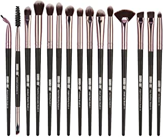 HomeMals Makeup Brushes 15 Pcs Professional Eye Brush Set Cosmetics Brushes with Premium Wooden Handles