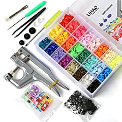 Include everything you need to get started. Great kit for both starter and professional tailor Comes with 375 sets of Size 20 (T5) plastic snap buttons in 24 different colors Pliers can work with 16, 20 and 24 snap, which is also displayed as T3, T5,...
