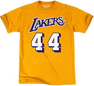 OuterStuff Mitchell & Ness NBA Boys Youth 8-20 Hardwood Classics Name & Number T-Shirt
