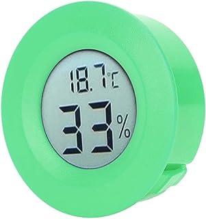 Luftfuktighetsmätare, Digital LCD-skärm - 50 - +70 ° C Inbyggd fuktighetsmätare för kylskåp för displayskåp(green)