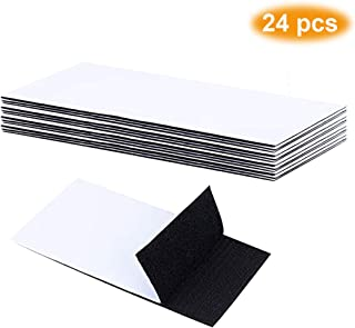Pantinue 24 PCS Strong Tape Double Sided Adhesive Sticky Hook Loop Mounting Removable Wall Fastener Sheets (Black, 1.5