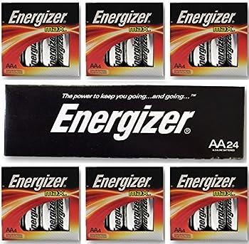 Energizer AA Max Alkaline E91 LR6 1.5V Batteries  In Original Box  X 24
