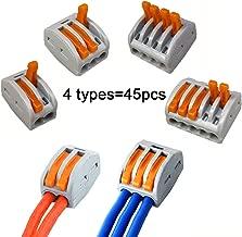 REFURBISHHOUSE 100 Unids//Set L/ínea de Conector de Acoplamiento Tipo U Presionando el Bot/ón Conexi/ón R/ápida Terminal Cableado 0.5 a 1.5 Cuadrado