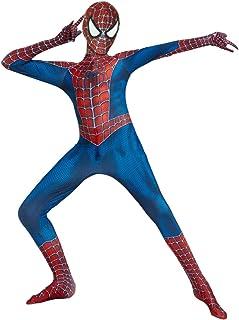 YongEnShang Halloween Superhero Bodysui Cosplay Costumes for Kids (Red Spiderman, 130)