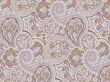 Venesto Gardinenstoff Organza Ornamente Paisley Muster lila
