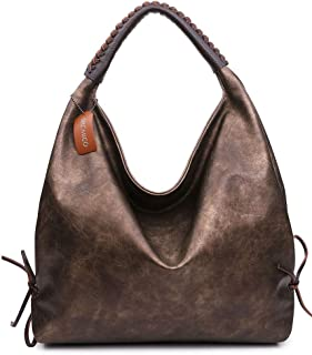Hobo Bags For Women Shoulder Handbags Ladies Large Fashion Vintage Purse Metallic