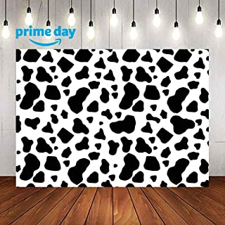Cow Print Backdrops for Photography,9x6FT,Black and White Cow Skin Photo Backgrounds,for Children Kids Birthday Party Decor YouTube LULX018